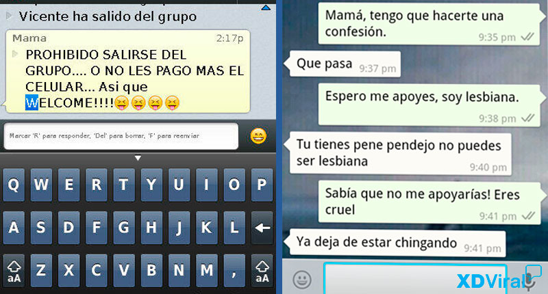 9 hilarius text Whatsapp with Mom and Dad